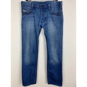 Diesel Timmen Button Fly Straight Leg Jeans 212
